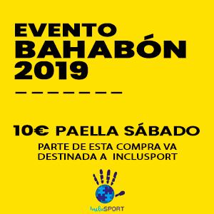 Paella sábado - Evento Bahabón 2019