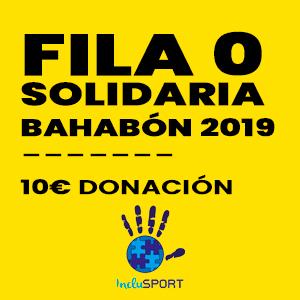 Fila 0 solidaria evento Bahabón 2019