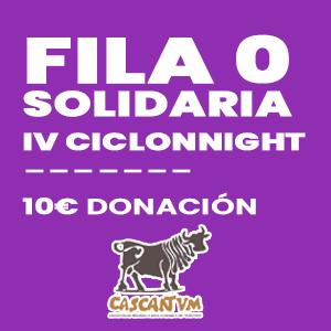 Fila 0 solidaria IV Ciclonnight Centro Termolúdico de Cascante